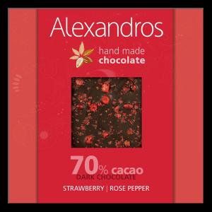 Alexandros - Σοκολάτα Υγείας Ροζ Πιπέρι