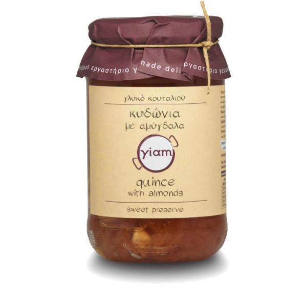 Yiam - Γλυκό Κουταλιού από Κυδώνια με Αμύγδαλα