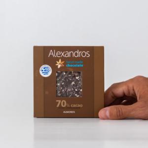 Alexandros - Σοκολάτα 70% Κακάο με Αμύγδαλα