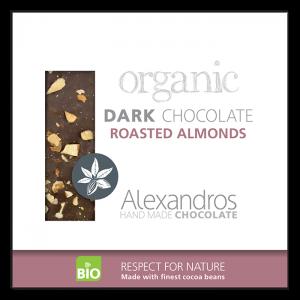 Alexandros - Βιολογική Σοκολάτα Με Αμύγδαλα