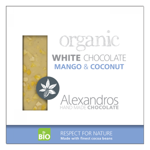 Alexandros - Βιολογική Σοκολάτα Λευκή Με Μάνγκο