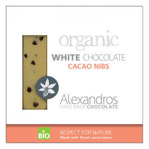 Alexandros - Βιολογική Σοκολάτα Λευκή Με Καρπούς Κακάο
