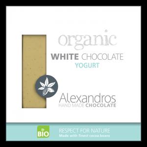 Alexandros - Βιολογική Σοκολάτα Λευκή Με Γιαούρτι
