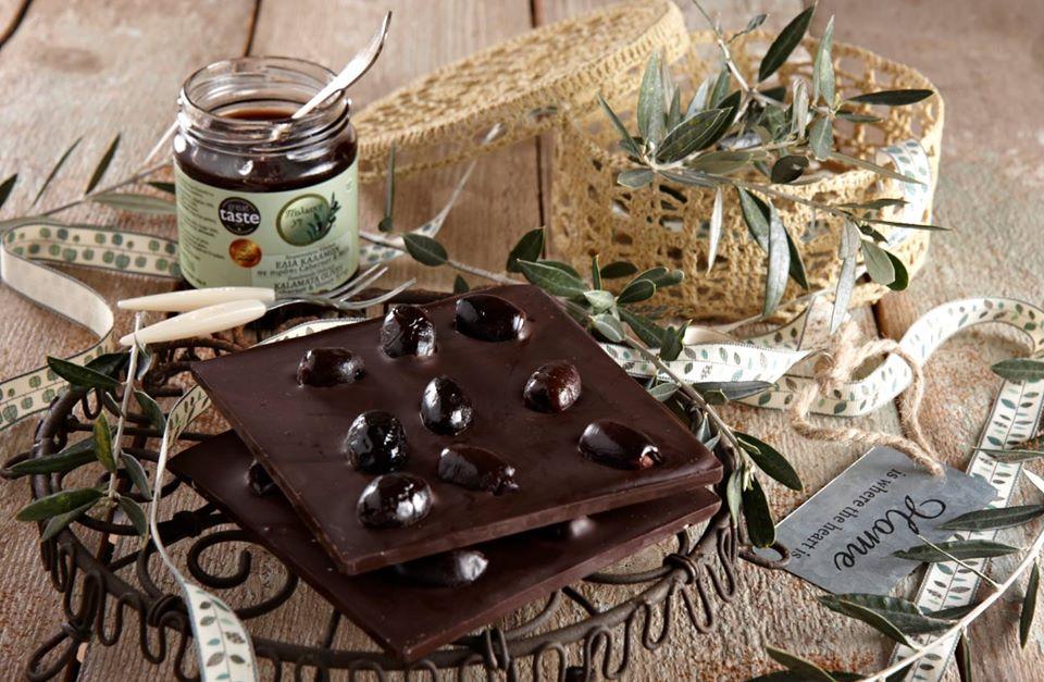 Σοκολάτα με γλυκό ελιά