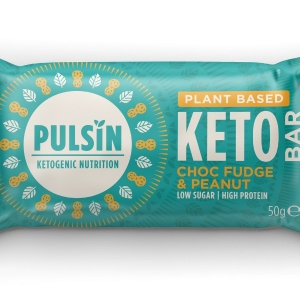 Pulsin - Μπάρα Πρωτεΐνης με Choc Fudge & Peanut, Keto Bar