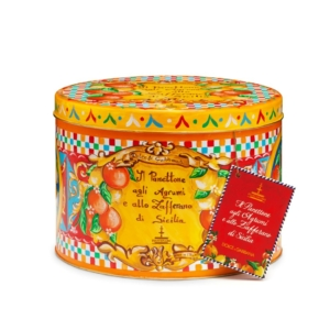 Dolce & Gabbana - Panettone με Εσπεριδοειδή & Σαφράν σε Κίτρινο Κουτί, 500g