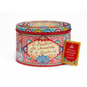 Dolce & Gabbana - Panettone με Αμύγδαλα Σικελίας σε Κόκκινο Κουτί, 1kg