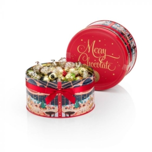 Venchi - Assorted Chocolates in a Tin Hatbox Gift Box