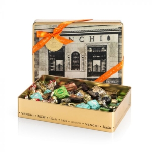 Venchi - Assorted Chocolates in Old Fashioned Tin Gift Box