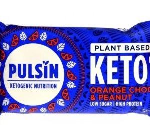 Pulsin - Μπάρα Πρωτεΐνης με Orange Choc & Peanut, Keto Bar