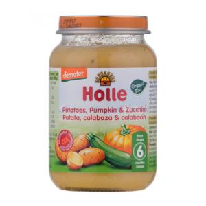 Holle - Βιολογικό Βαζάκι Λαχανικών με Πατάτες Κολοκύθα & Κολοκυθάκι