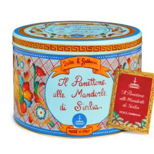 Dolce & Gabbana - Panettone με Αμύγδαλα Σικελίας σε Μπλε Κουτί, 1kg